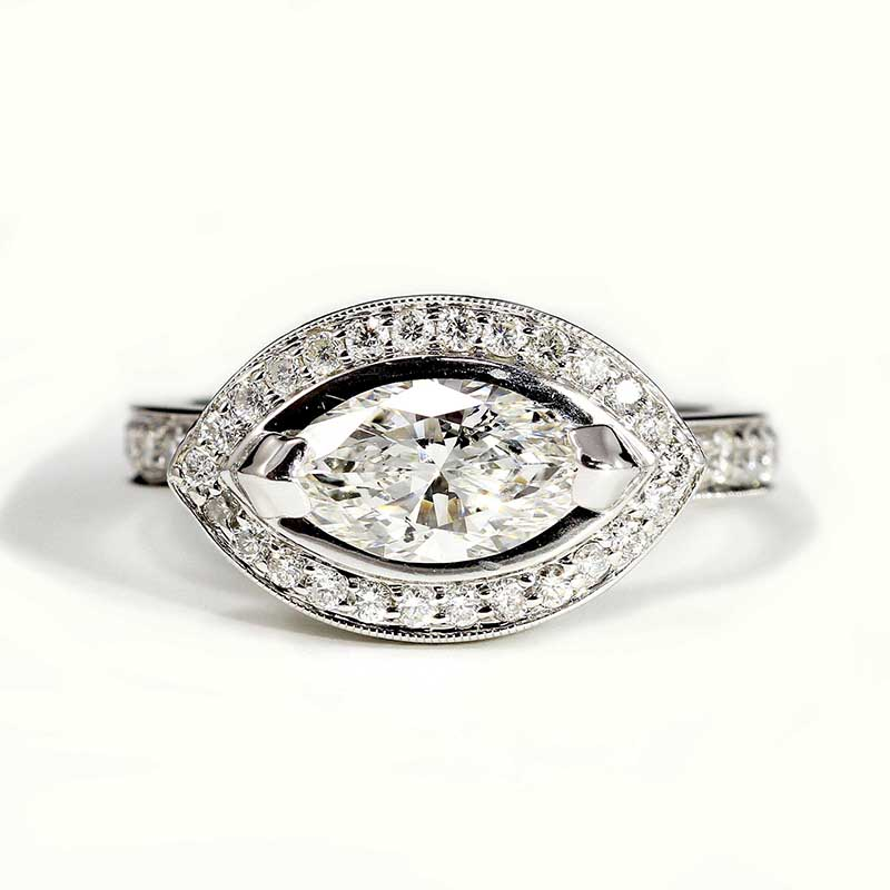 Diamond Marquise with Halo