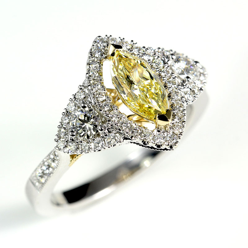 Marquise Yellow Diamond
