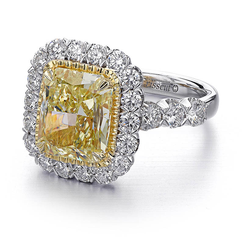 Fancy Yellow Diamond Crisscut Ring