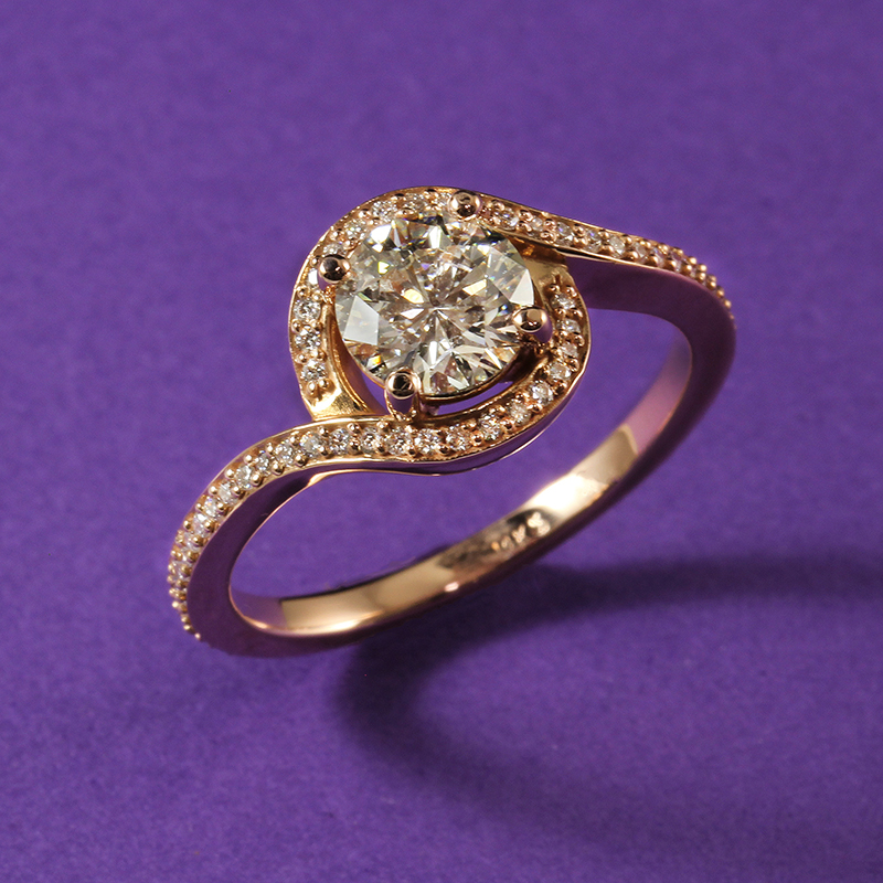 Rose Gold Diamond Wraparound Ring