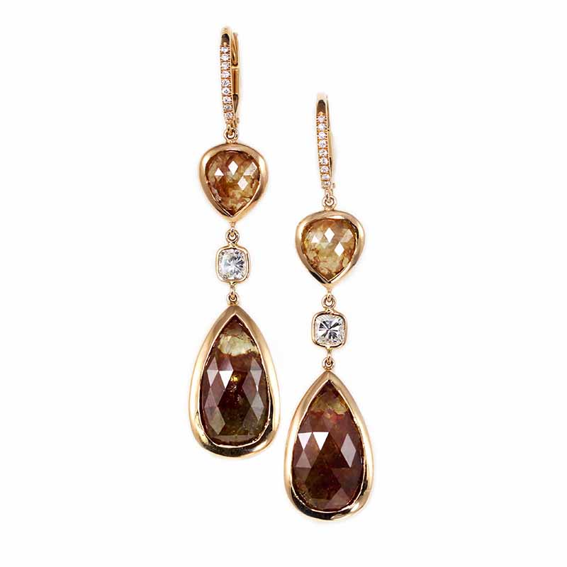 Rose Gold Diamond Earrings-Sold!
