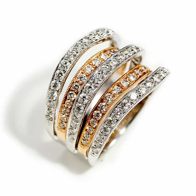 Dimensional Two-Tone Ring