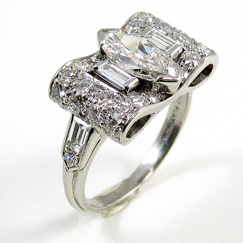Vintage Marquise Diamond Ring