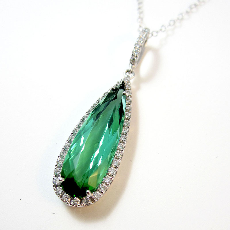 Pear Shaped Mint Tourmaline