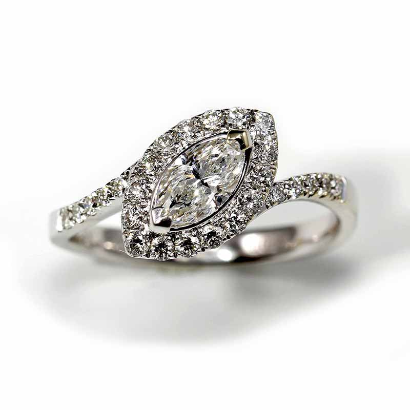 Diamond Marquise Ring with Halo