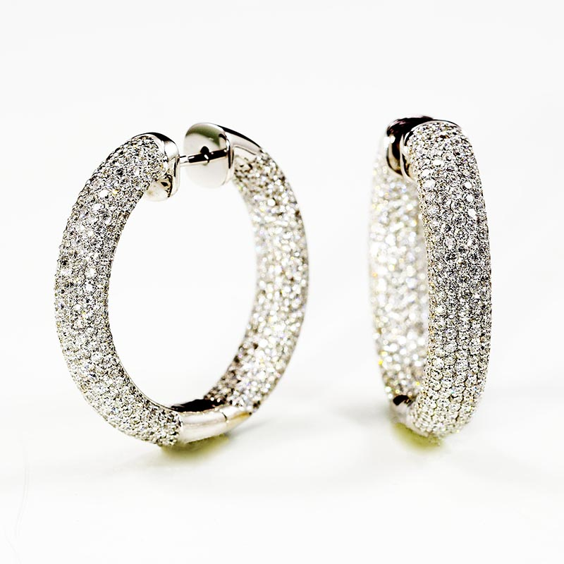 Micropave Diamond hoops