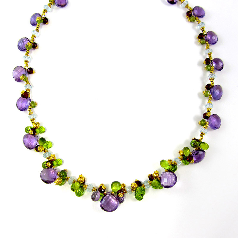 Multi-Gemstone Beaded Necklace