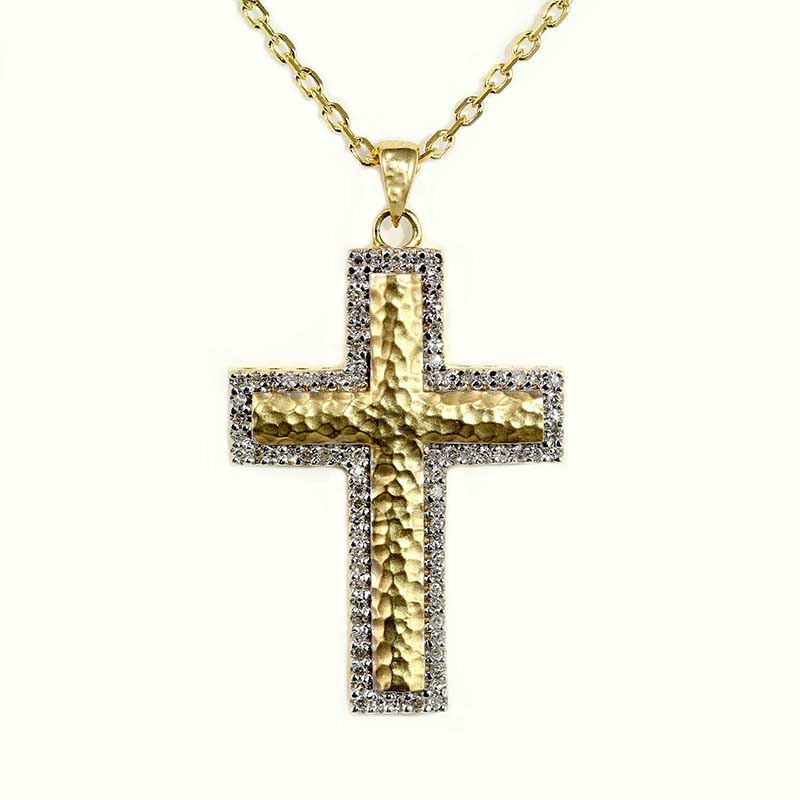 Two-Tone Textured Cross