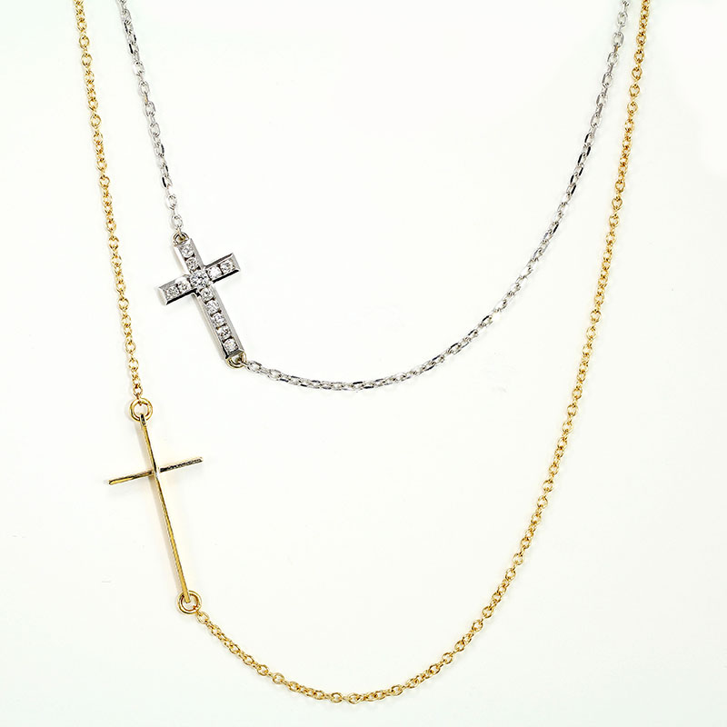 Cross-in-Chain Necklace