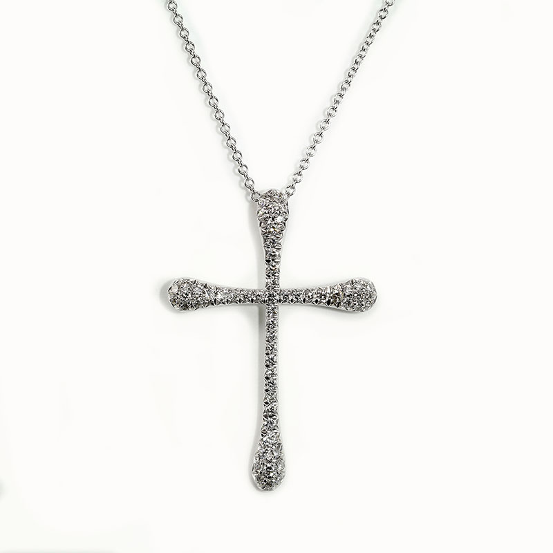 Diamond Pave Cross