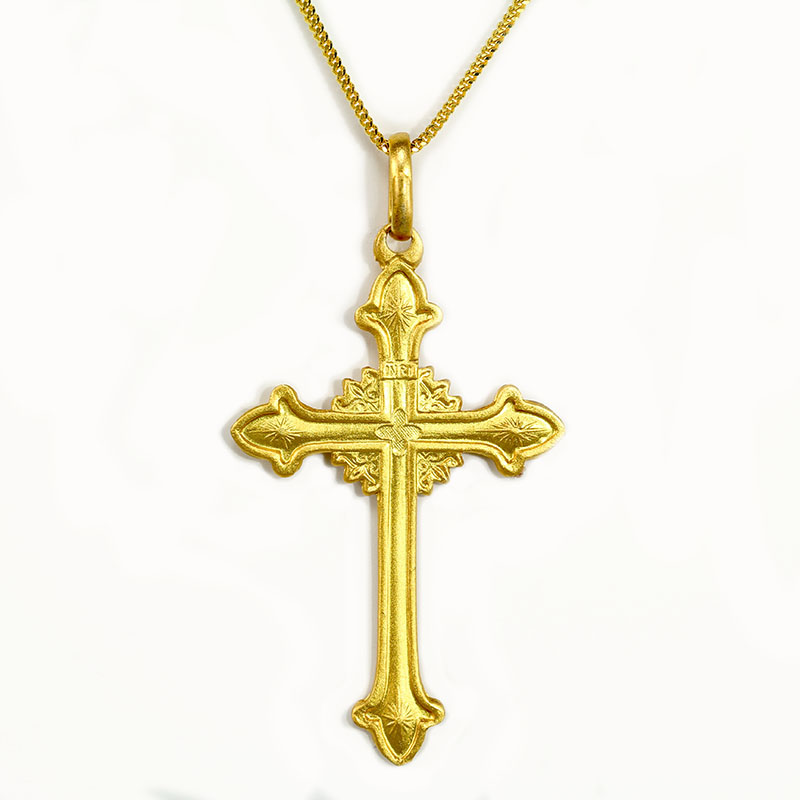 Fancy Gold Cross