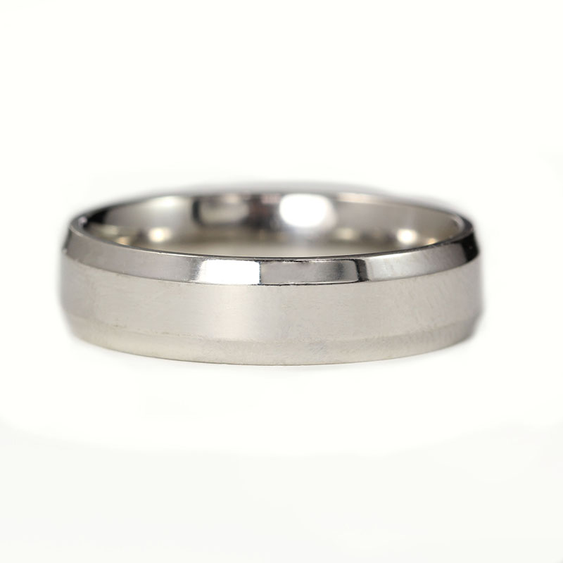 Beveled White Gold Band