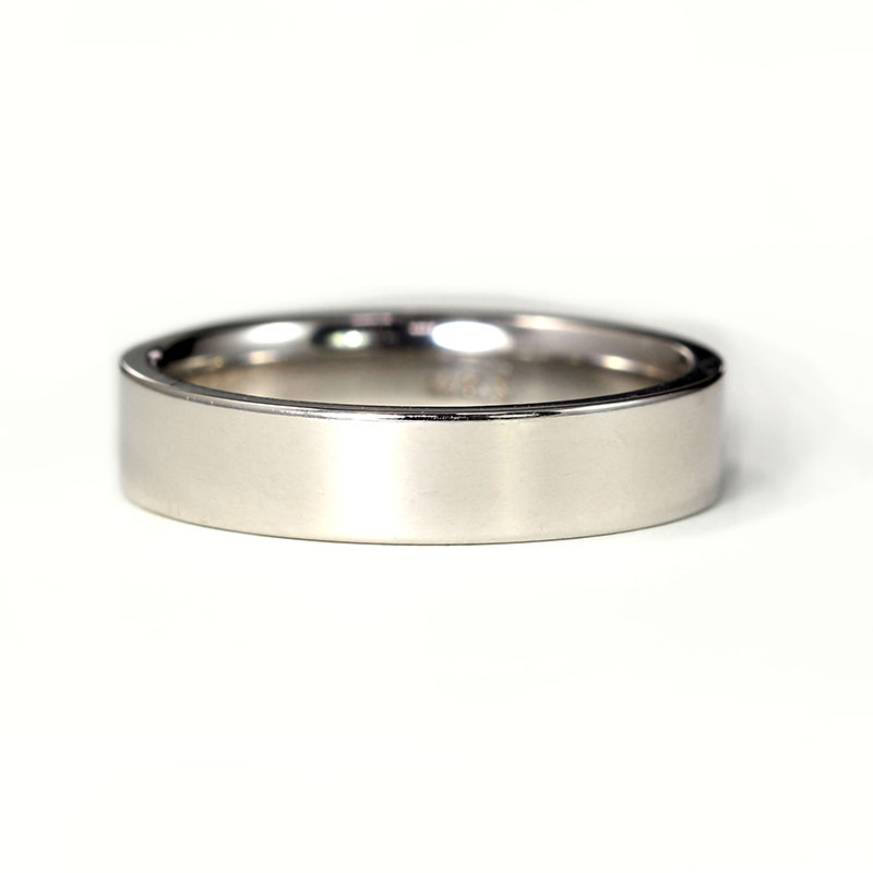 White Gold Plain Band