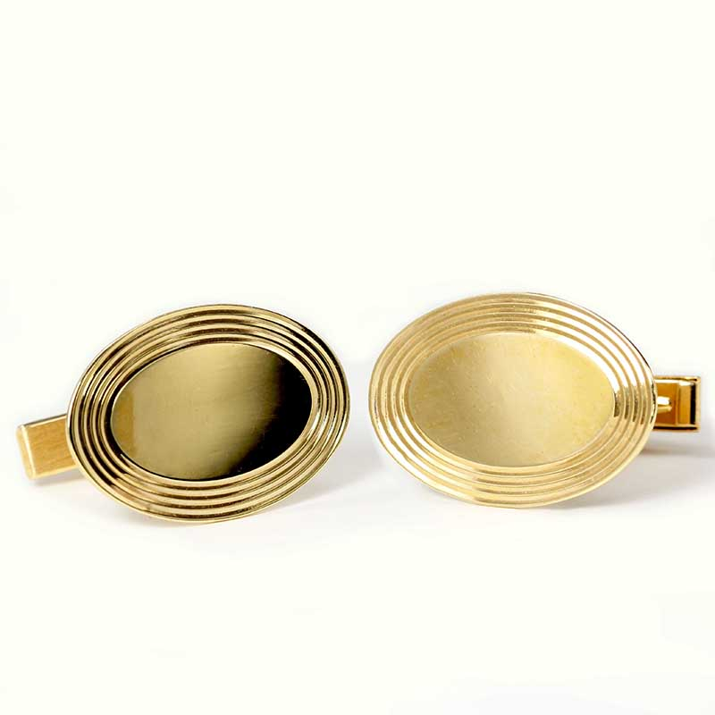 Engravable Disk Cuff-links