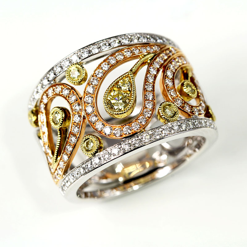 Diamond Paisley Ring