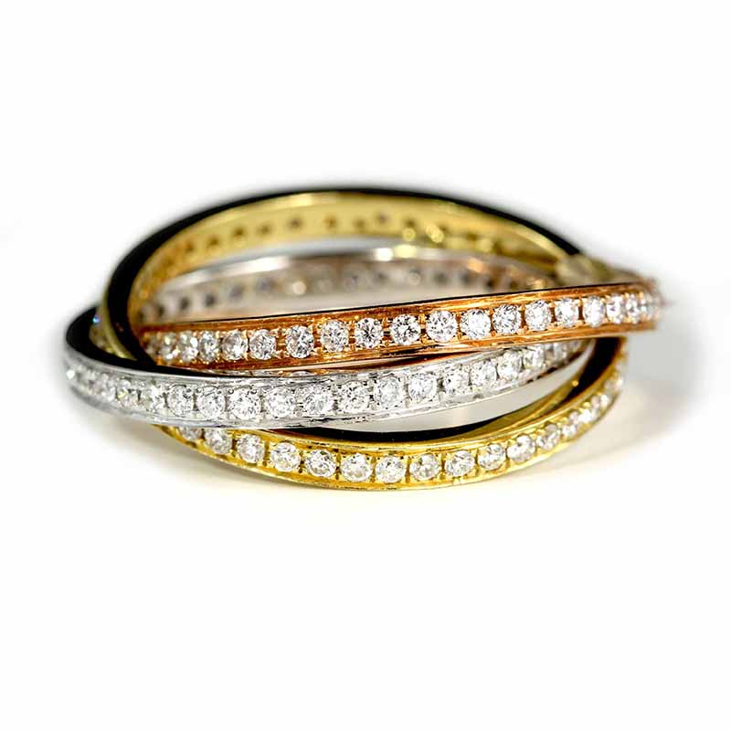 Diamond Roll-On Ring