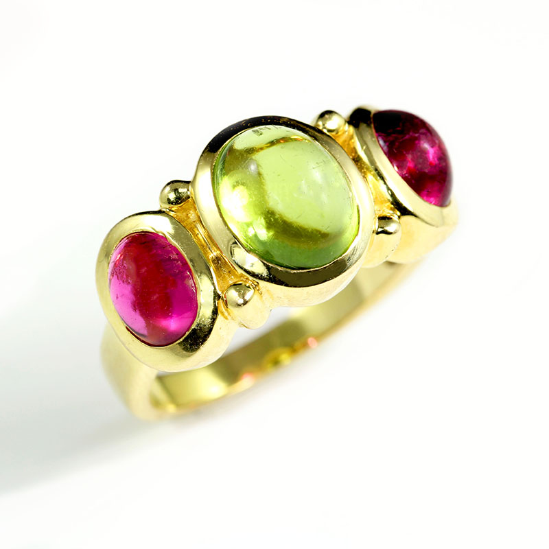 Pink and Green Ring