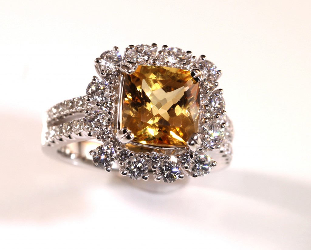 Imperial Topaz Halo Ring