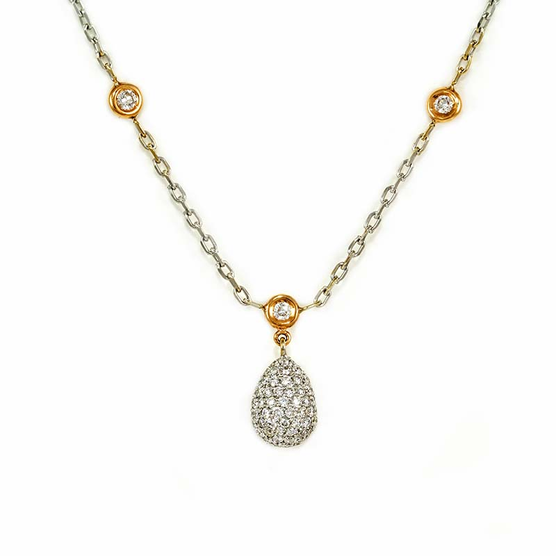 Pavé Drop Necklace