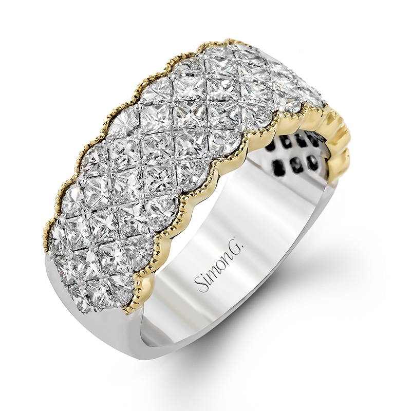 Milgrain Diamond Anniversary Band