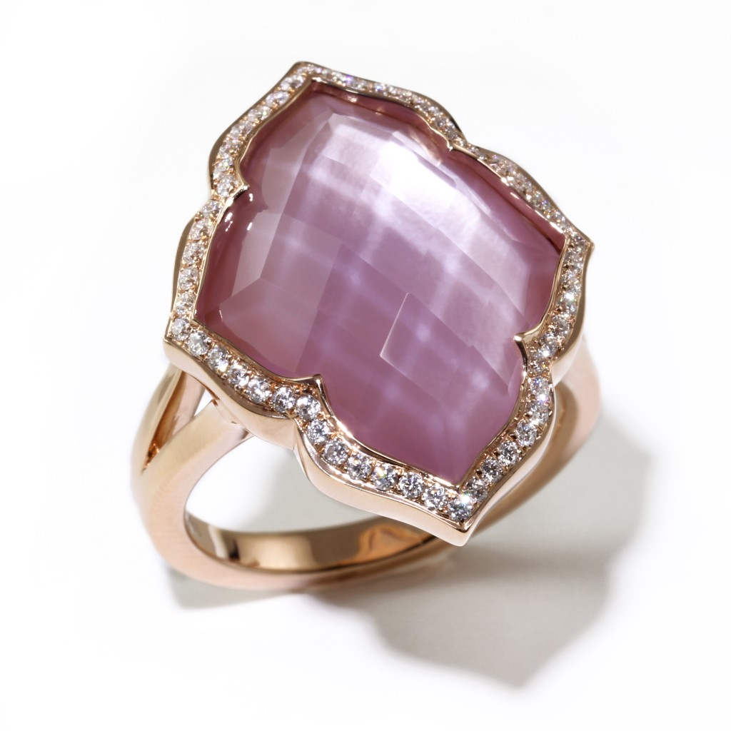Mother of Pearl and Amethyst Ring