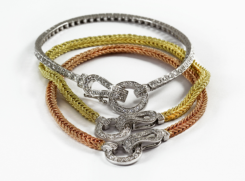 Diamond Buckle Clasp Bracelets