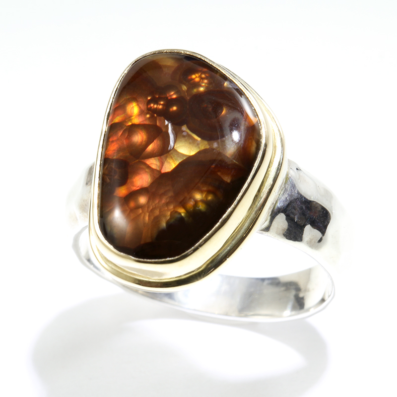 Bezel Set Fire Agate