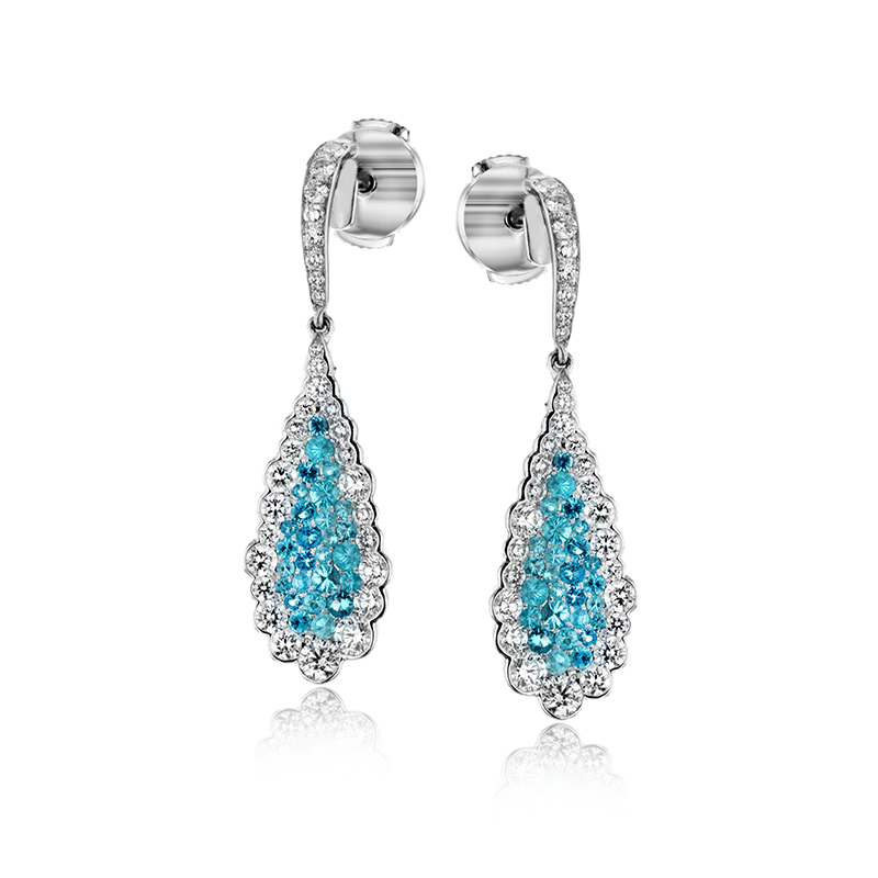 Teardrop Diamond Paraíba Earrings