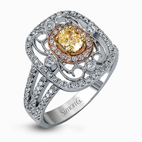 Vintage Inspired Yellow Diamond Ring