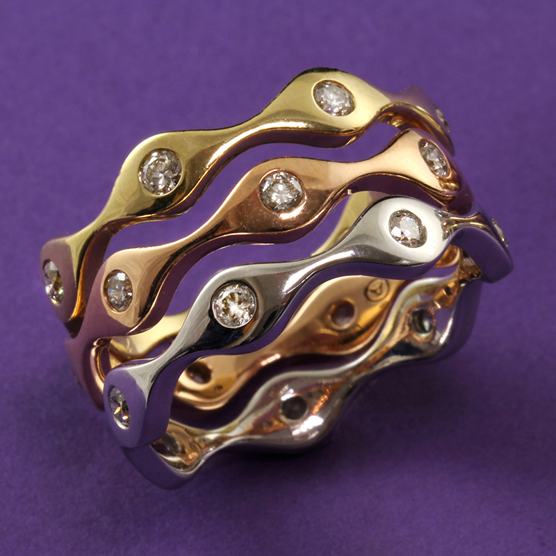 Stackable Diamond Wave Bands