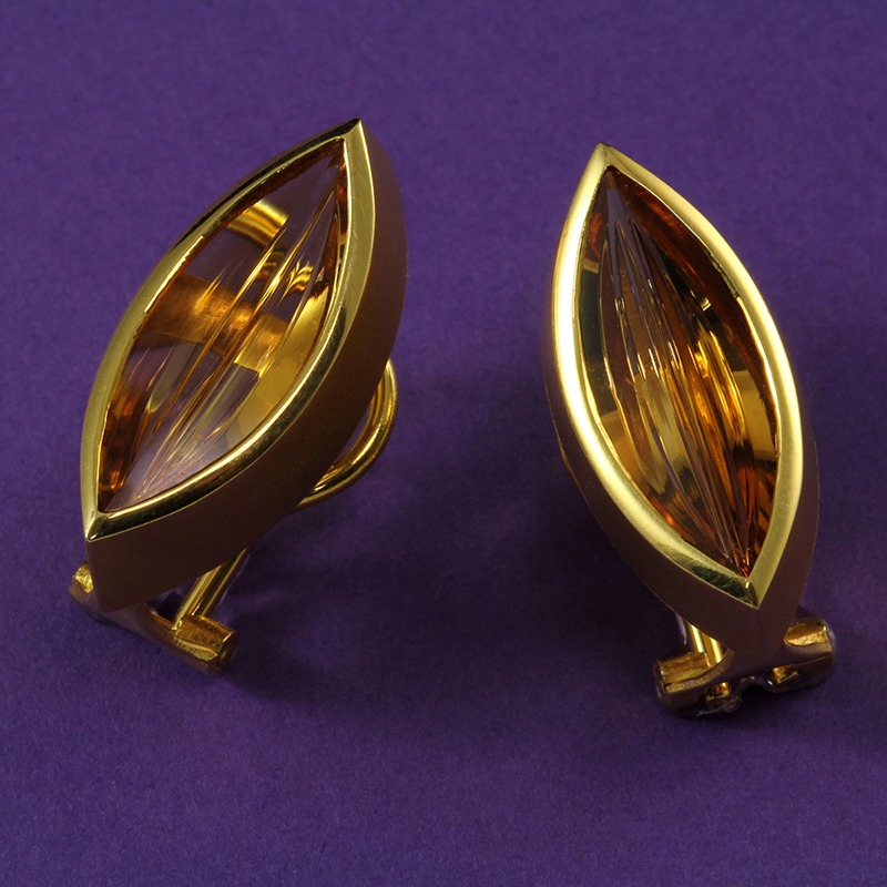 Munsteiner Citrine Earrings
