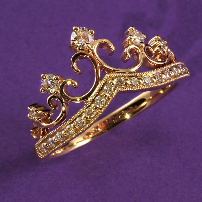 Rose Gold Diamond Crown Ring